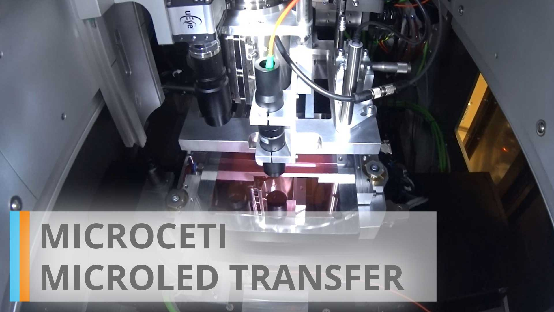 microCETI: microLED transfer system